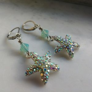 Jewelry - Handmade Glam Starfish Earrings